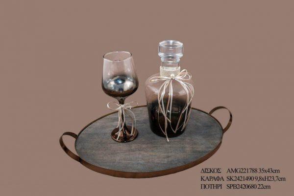 Σετ γάμου καράφα ποτήρι SK2421490