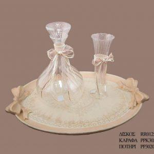 Σετ γάμου καράφα ποτήρι PPK3021595