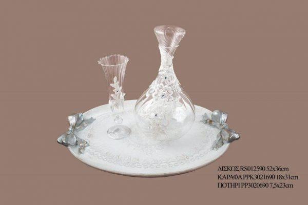 Σετ γάμου καράφα ποτήρι PPK3021690