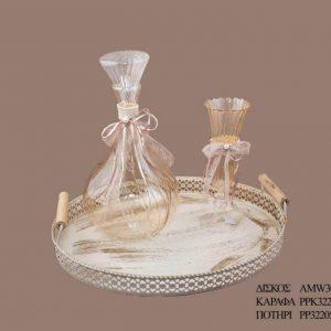 Σετ γάμου καράφα ποτήρι PPK3321595