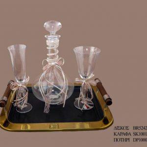Σετ γάμου καράφα ποτήρι SK1001790