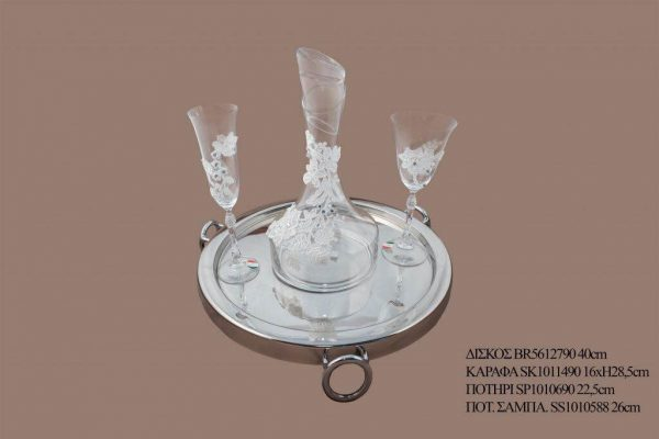 Σετ γάμου καράφα ποτήρι SK1011490