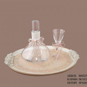 Σετ γάμου καράφα ποτήρι SK1021398C