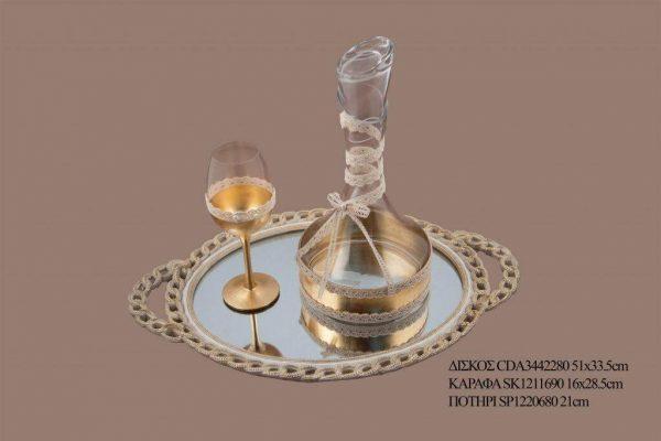 Σετ γάμου καράφα ποτήρι SK1211690