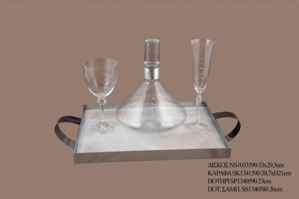 Σετ γάμου καράφα ποτήρι SK1341590
