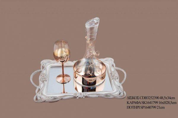 Σετ γάμου καράφα ποτήρι SK1641799