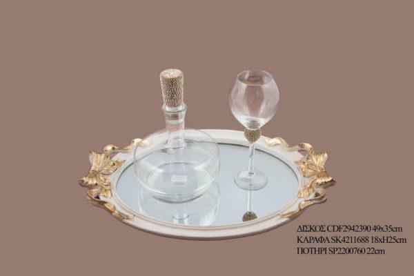 Σετ γάμου καράφα ποτήρι SK4211688B