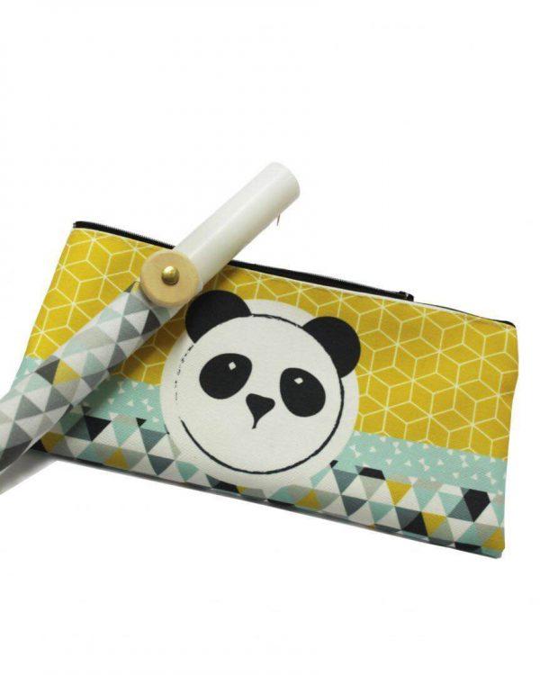 Χειροποίητη λαμπάδα με κασετινα panda