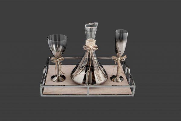 Σετ γάμου καράφα ποτήρι CK2181690-CP2180690