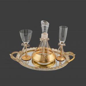 Σετ γάμου καράφα ποτήρι CK2481680-CP2480760B