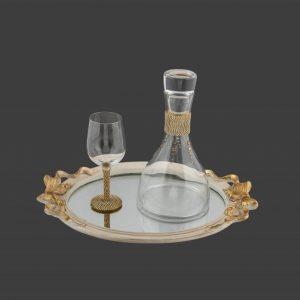 Σετ γάμου καράφα ποτήρι SK6641890-SP6640780